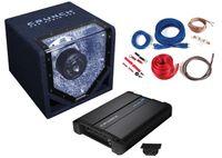 Crunch CPX750.1 Basspaket 1 Kanal Komplettset Einbaupaket