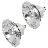 2X GU10 LED ES111 Strahler Lampe 15W LED AR111 Spot Leuchtmittel Ersatz für 120W Halogenlampen 1400lm 120° Neutralweiß 4000K AC 85-265V