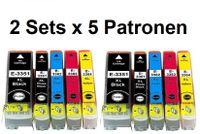 2 x Druckerpatronen-Set kompatibel mit Epson T33 XL, T3331 + T3341-T3344 / T3351 + T3361-T3364, T3337, T3357 für Expression Premium XP-530, XP-540, XP-630, XP-635, XP-640, XP-645, XP-830, XP-900, XP-7100 / ersetzt T3331, T3341, T3342, T3343, T3344, T3351, T3361, T3362, T3363, T3364