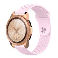 Smartwatch Armband für Samsung Galaxy Watch Active 2 Gear S2 Sport Classic Sport-Armband Silikon Fitness Hellrosa