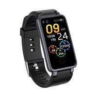 Armband Smartband Fitnesstracker für Android, Überwachung von Herzfrequenz und Blutdruck,IP68 wasserdicht ,Schwarz