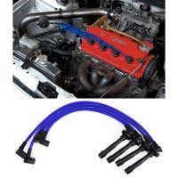 Zündkabel Sport Zündleitungssatz Silikon Blau für Honda Civic 92-98 D16