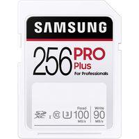 Samsung PRO Plus 256GB SDXC UHS-I U3 100MB/s Full HD & 4K UHD Speicherkarte