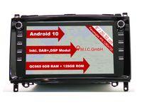 "M.I.C. AB8 Android 10 Autoradio mit navi Ersatz für Mercedes Benz A-Klasse W169 B-Klasse W245 Viano Vito W639 Sprinter VW Crafter : DAB Plus Bluetooth 5.0 WiFi 2 din 8"" Bildschirm USB Radio Kamera"