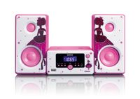 Lenco Stereoanlage MC-020, Bluetooth, USB, Radio Funktion, Prinzessin Design