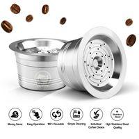 Wiederverwendbare Kaffeekapseln aus Edelstahl Wiederverwendbarer Kaffeekapsel-Tassenfilter Kompatibel mit Cafissimo【Silber】