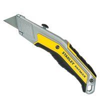 Stanley FatMax FMHT0-10288 Messer EXO mit einziehbarer Klinge - InterLock, Verbindung der Griffschalen für sicheren Halt inkl. 5 Klingen