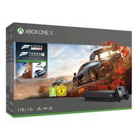 Microsoft Xbox One X + Forza Horizon, Forza Motosport 7, Xbox One X, Schwarz, 12288 MB, GDDR5, Festplatte, 1000 GB