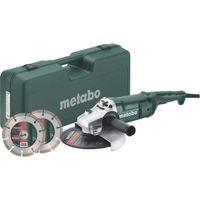 METABO Schleifmaschine - 230 mm WEP 2200-230 + Gehäuse + 2 Diamantscheiben