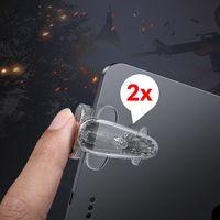 Baseus PUBG Gamepad Spiel Controller Zielauslöser Extra Schaltfläche Bumper fürTablet iPad für Spieler Gamer Zocker Fortnite in Transparent