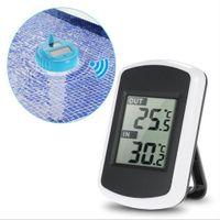 LCD Digitales Thermometer, Solarbetriebene Schwimmende Badewanne Schwimmbad SPA  Wassertemperaturerfassungsthermometer