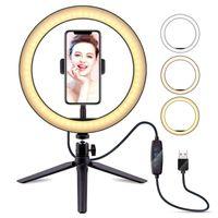 Meco LED Studio dimmbar Ringlicht Telefon Selfie Make-up Video Live Lampe 22cm 120pcs geführt
