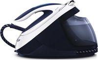 Philips PerfectCare Elite GC9614/20 Dampfbügelstation, 2400 W, 7,5 bar Dampfdruck, 1,8 l Wassertank, Dampfstoß 500g/min, Dauerdampf 150g/min, T-ionicGlide-Sohle, Weiß/Blau
