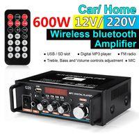 600W Digital Bluetooth Audio Stereo HiFi Verstärker Amp USB FM SD Mikrofon 110V 12VHome & Car
