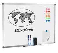 Licence Magnetisches Whiteboard, 110*80*1.1 cm, Mit 12x Magnete, 1x Magnetischer, 1x Tafellöscher, 2x Whiteboard-Stift(1x blau, 1x schwarz), HY1437