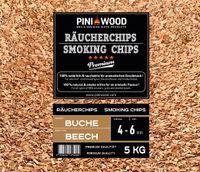 PINI 5 Kg Räucherchips Buche 4-6 mm Smoking Chips Räucherspäne