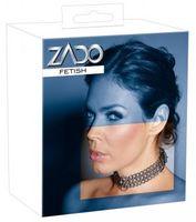 3-Gliederkettenhalsband aus Metall mit D-Ring von ZADO