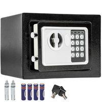 tectake Elektronischer Safe Tresor mit Schlüssel inkl. Batterien - schwarz