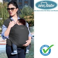 Sevibaby GRAU Tragetuch Babytrage Tragehilfe Babycarrier Sling Bauchtrage 562-13