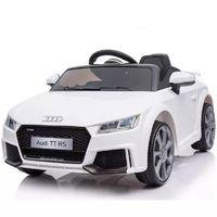 Audi TT RS Elektro Kinderauto 12V, 2x Motoren mit Fensteuerung MP3 USB weiß