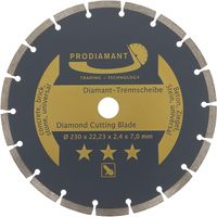 PRODIAMANT Beton Diamanttrennscheibe Diamantscheibe Stein Trennscheibe Diamant(230mm)