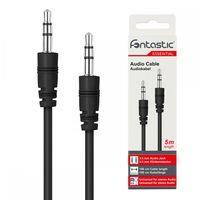 Fontastic Essential Klinkenkabel PVC 3.5mm, 5m, schwarz Klinke auf Klinke Stereo