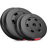 Hop-Sport 30kg Hantelscheiben 30 mm - Gewichte Hantel Sets 2x5kg+2x10kg