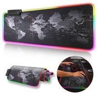 Gaming Pad Mauspad RGB XXL Anti-Rutsch Mauspad 800 x 300 mm  Anti Rutsch Schreibtischunterlage Mausmatte Schreibunterlagen