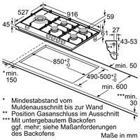Bosch Gas-Kochfeld PPS9A6B90 - autark, 90cm