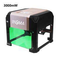 INSMA 3000mW USB Laser Graviermaschine Engraving Gravurmaschine 3D Drucker für IOS Windows