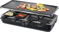 Melissa 16300023 Raclette Grill für 8 Personen Tischgrill Raclette mit Temperaturregler für die ganze Familie