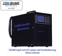 CHM GmbH® Ozongerät, Ozongenerator mit UV Lampe 20g/h, gegen Viren, Bakterien