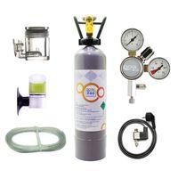 OCOPRO CO2 Anlage Aquarium DLX-350 Plus Komplettset mit Nachtabschaltung Mehrwegflasche - 2kg