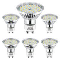 Wowatt GU10 LED Warmweiss 6er LED GU10 Lampe 5W 230V Ersetzt 40W 35W 30W 25W 20W GU10 Halogenlampe 420lm Warmweiß 2800K AC 220V-240V 120° Abstrahwinkel LED Birnen LED Leuchtmittel