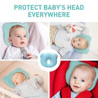 Apark Babykissen,Baby Kopfkissen,gegen Plattkopf und Kopfverformung Umweltschutz,waschbar,Geeignet f/ür Babys von 1-12 Monaten