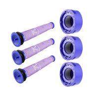 3 x Hepa Filter Vormotorfilter Vorfilter + 3 x Nachmotorfilter für Dyson V8 +, V8, V7 Absolute Animal