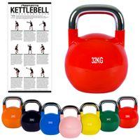 Kettlebell Competition 4 - 32 kg Wettkampf Kugelhantel, Farbe:32 kg - Rubinrot