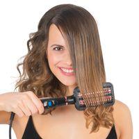 VITALmaxx Glättbürste 2in1 50W bürsten und glätten elektrischer Haarglätter
