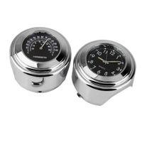 Universal Motorrad 7/8 \'\'-1\'\' Lenker Uhr DIY Lenker Thermometer Für Yamaha A1