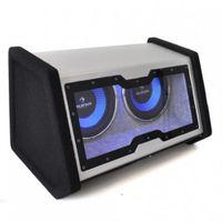 Auna C8 Double-SUB, Vorgeladener Subwoofer, Aktiver Subwoofer, 30 - 500 Hz, 2000 W, 90 dB, Geschlossen