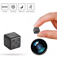 HD Mini  Kamera,SQ16 Mini Kamera HD Zuhause Überwachungskamera Hidden Spion Kamera Schwarz