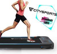 Laufband elektrisch leise, Laufbänder Treadmill 1-6 km/h einstellbar, 440W Motor mit Fernbedienung und LCD Display, einfach zu transportieren und zu lagern, geeignet für Büro und zuhause,