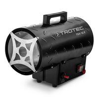 TROTEC Gasheizgebläse TGH 16 E inkl. Verbindungschlauch und Druckminderer (Heizleistung bis 15 kW, 580 m³/h Luftdurchsatz, für handelsübliche Gasflaschen, pulverbeschichteter Riffelblechausführung, Piezozündung)