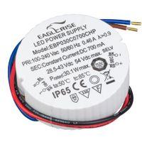 HuaTec Eaglerise LED Trafo 700mA 30W Wasserdicht IP65 LED Netzteil Driver Treiber Transformator Konstantstrom