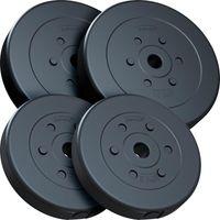 ScSPORTS® 30 kg Hantelscheiben Set Kunststoff 2x10 2x5 kg Gewichte 30/31 mm Bohrung, Gewichteset, Kunststoffscheiben, Hantelscheibenset zur Erweiterung des Trainings-Equipments