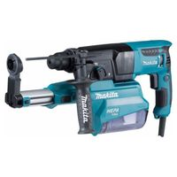 MAKITA HR2650 - SDS + 26mm 800W Bohrhammer + integriertes Saugsystem + Gehäuse