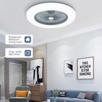 Intelligent LED Deckenventilator ,36W LED Deckenventilator mit Beleuchtung  (Grau)