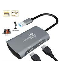 4K Video Capture Card HDMI auf USB 3.0 Grabber Videoaufnahme Videoaufnahmekarte Für xbox one PS4