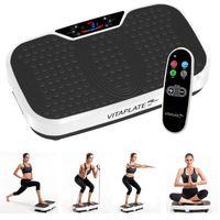 Vitaplate SE Vibrationsplatte 300W Vibrationstrainer mit Fernbedienung, Fitnessbänder und LCD-Farbdisplay