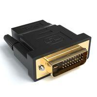 HDMI auf DVI Adapter   HDMI A Buchse auf DVI Stecker   Kontakte vergoldet